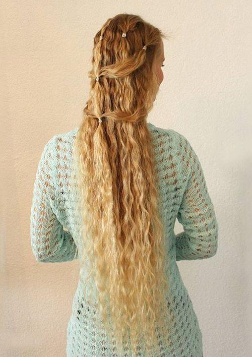 Simple Elegant Half Updo For Long Hair