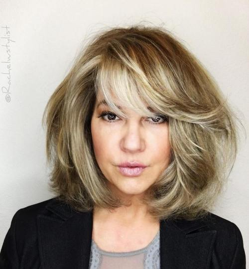 Blonde Bob Blowout With Bangs