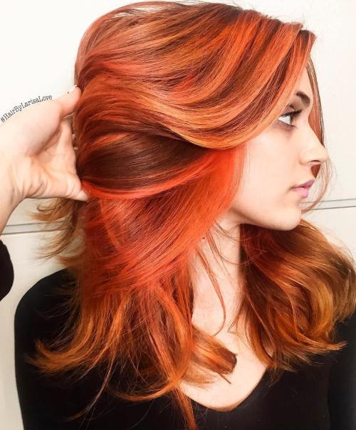 40 fresh trendy ideas for copper hair color copper hair with orange highlights pmusecretfo Image collections