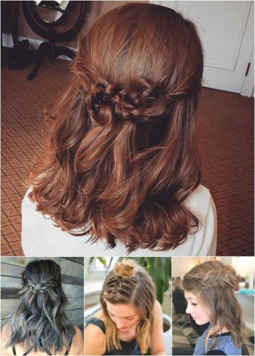 Enjoyable 54 Easy Updo Hairstyles For Medium Length Hair In 2017 Short Hairstyles Gunalazisus