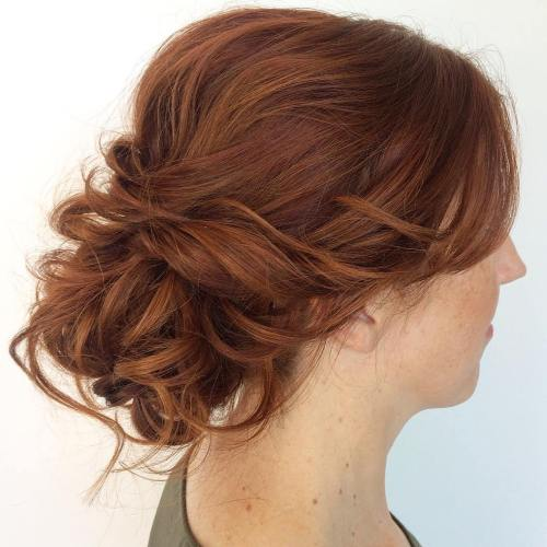 Low Curly Updo For Medium Hair
