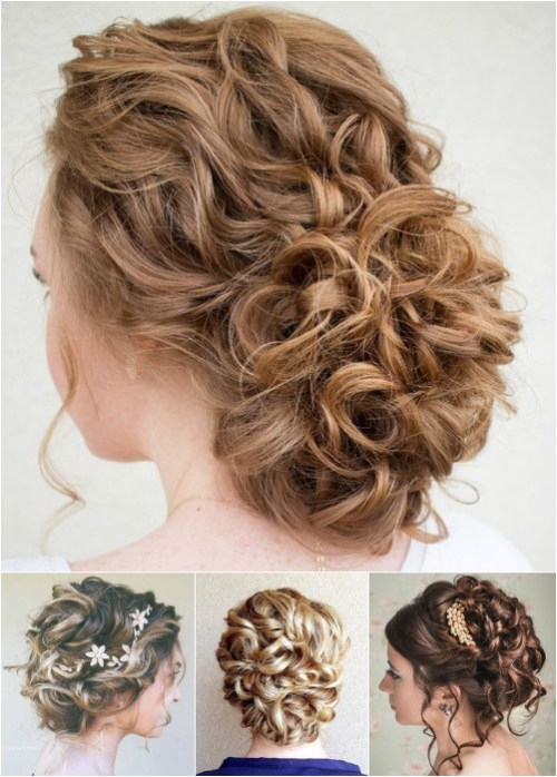 60 easy updo hairstyles for medium length hair in 2017 curly updos for medium length hair pmusecretfo Choice Image