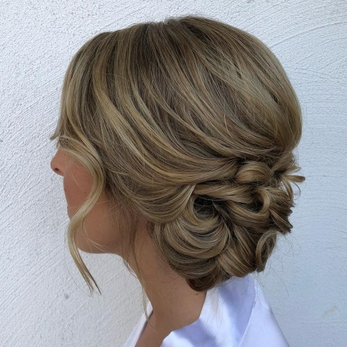 Classy Low Updo For Medium Hair