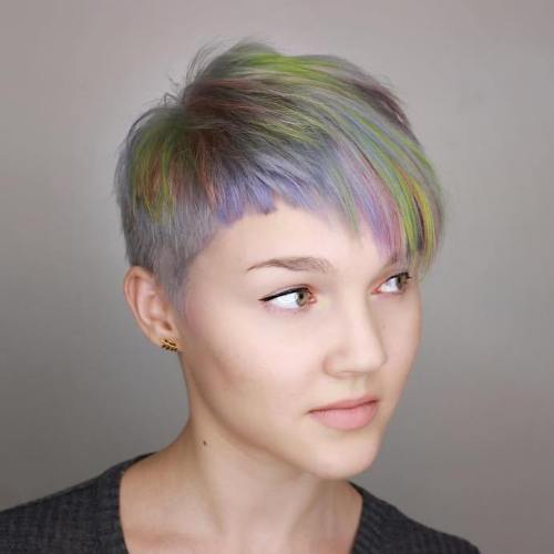 Pastel Pixie With Asymmetrical Bangs