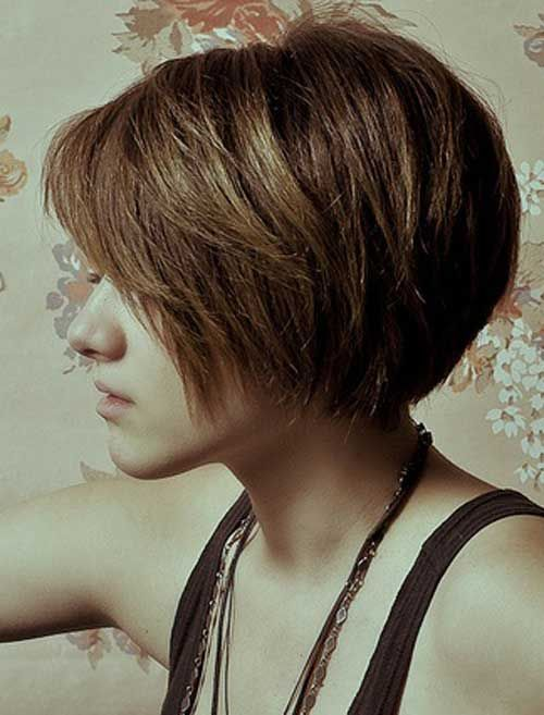 short textured bob for girls