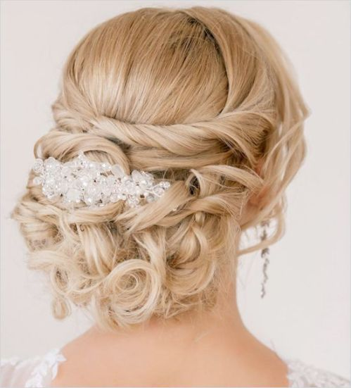 Updo Curly Hairstyles Wedding: 80 Easy Updo Hairstyles For Medium Length Hair