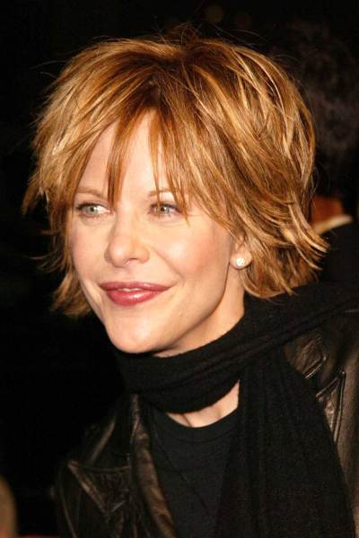 short sassy hairstyle for older women