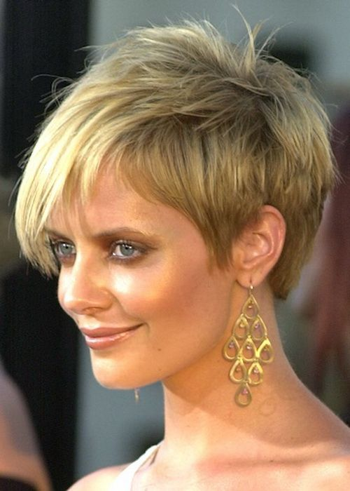 golden blonde pixie