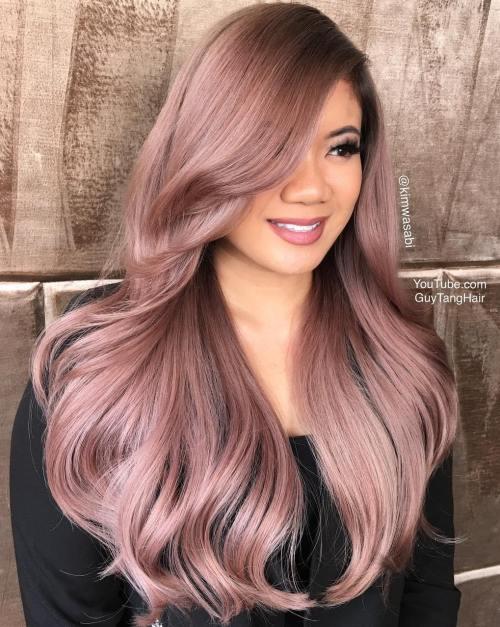 Long Pastel Pink Hairstyle