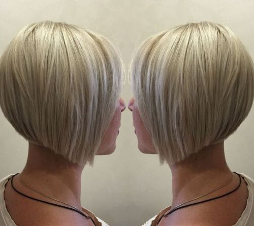 Blonde Bob With White Highlights