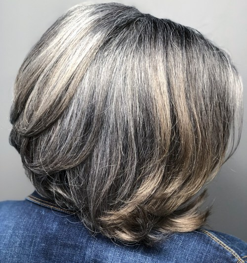 Short Gray Bob Hairstyle