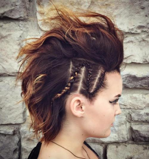 Braided Mohawk For Short Hair