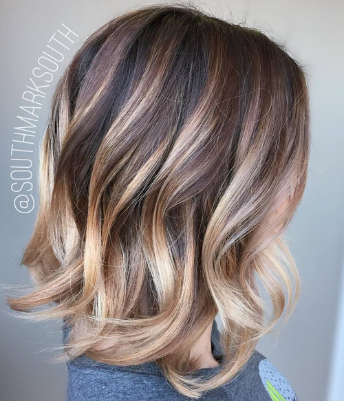 Brown and blonde hair color