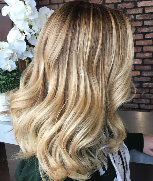 blonde balayage hair