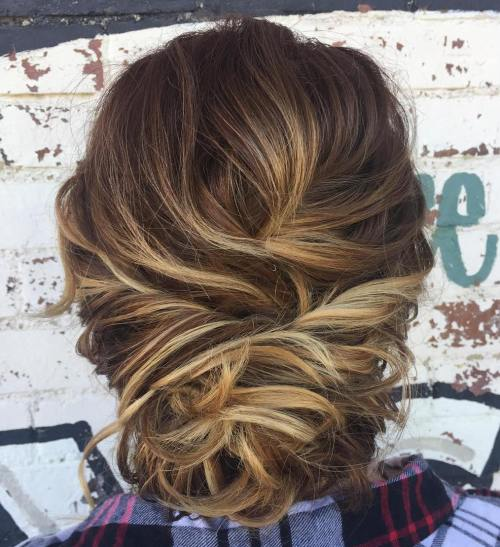 Loose Bun Updo For Short Hair