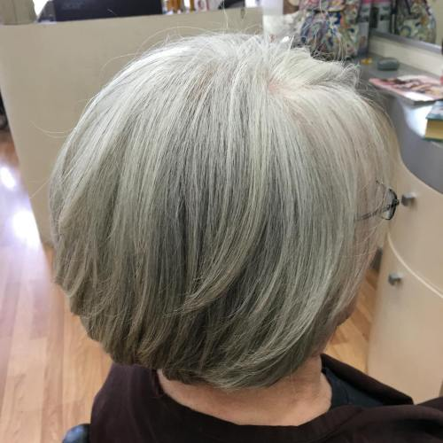 Layered Bob For Older Women