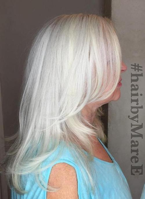 Gray Hairstyles best 25 grey hair styles ideas on pinterest gray hair silver hair styles and going grey transition Medium Layered Gray Hairstyle