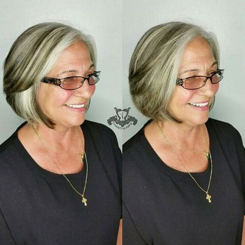 Mature Blonde Bob With Lowlights