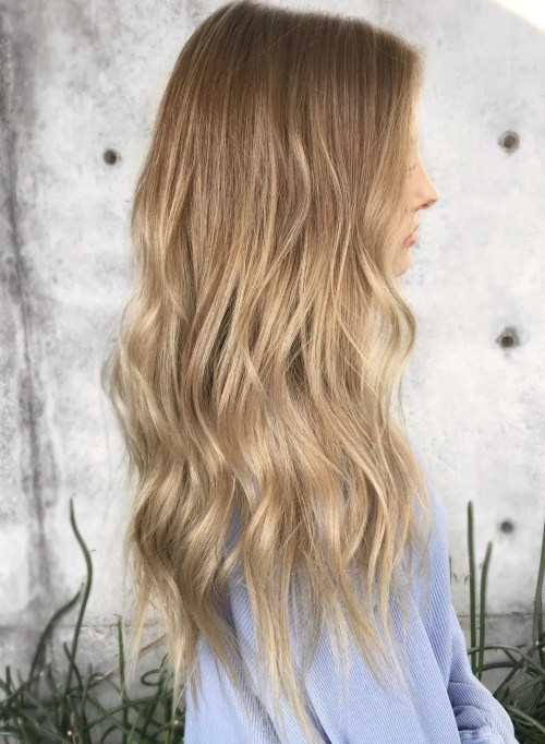 Subtle Brown Blonde Ombre Hair