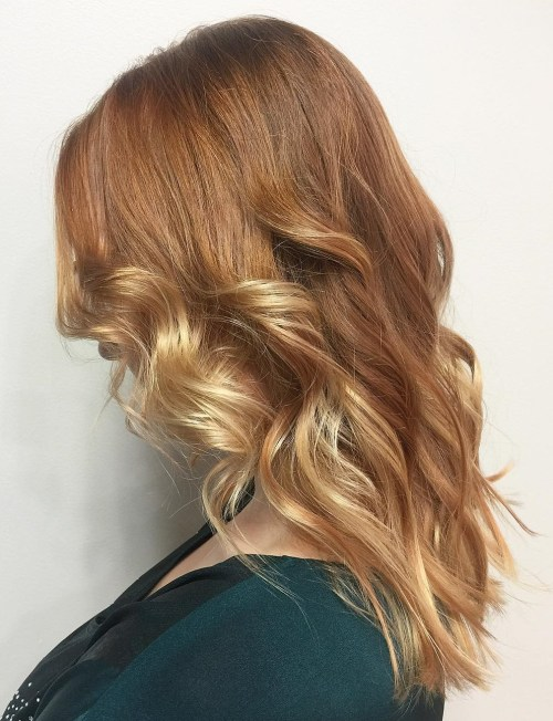 Copper Hair With Blonde Balayage