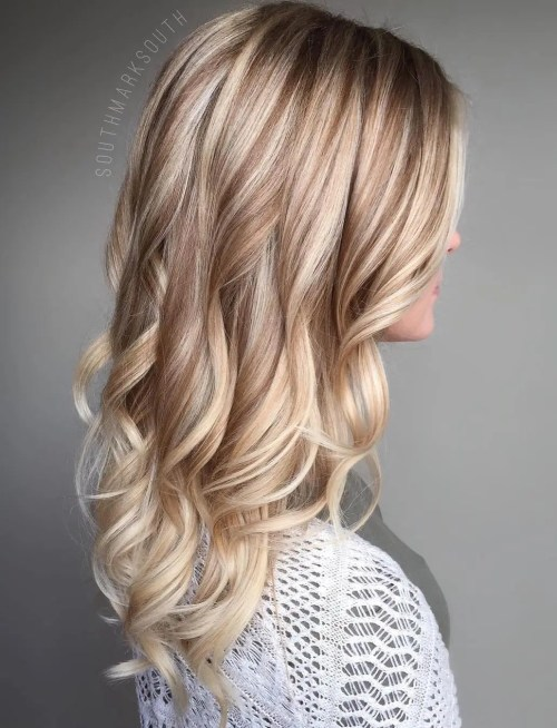 50 variants of blonde hair color � best highlights for