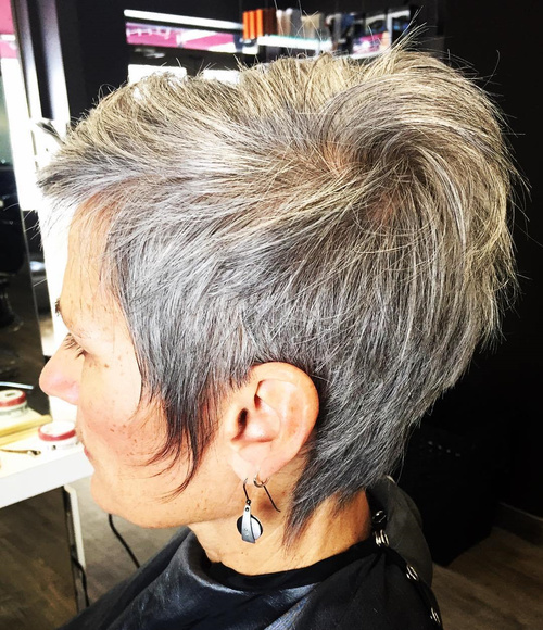 best short haircuts for gray hair 50 gorgeous hairstyles for gray hair 4020 | 4 brown and gray short hairstyle