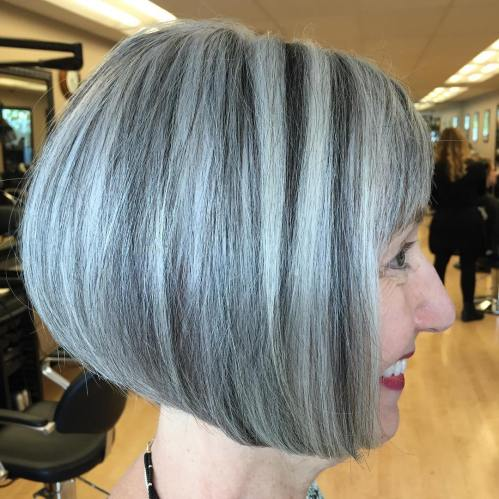 Black And Gray Balayage Bob