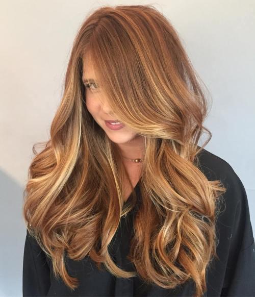 Long Caramel Hair With Highlights