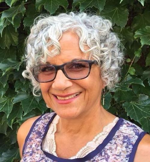 Older Women's Short Curly Gray Hairstyle