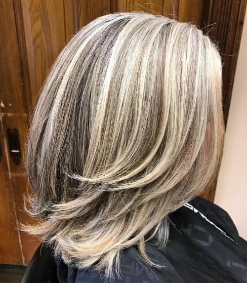 Ash Bronde Balayage For Medium Hair