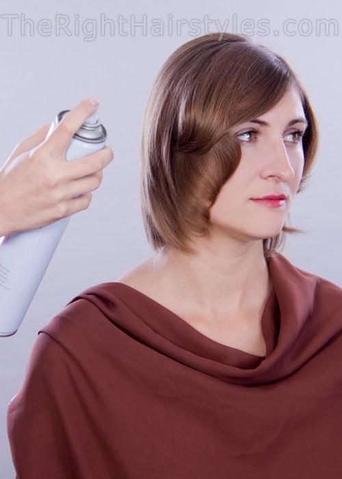 hair spraying