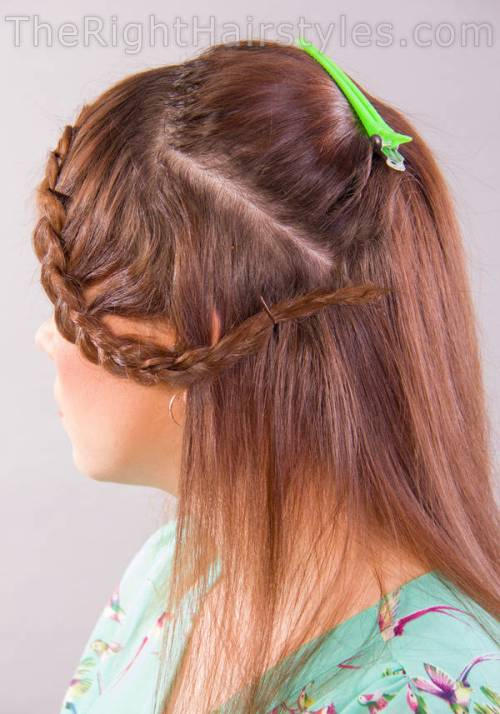 how to fix braided bangs