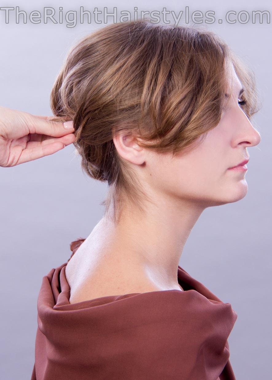 updo for short hair tutorial