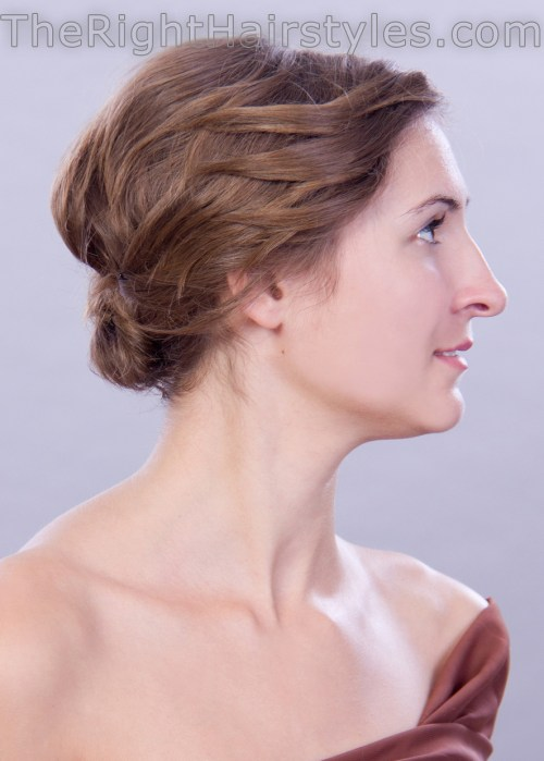updo hairstyle for fine hair