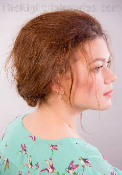 How To Messy Updo For A Round Face