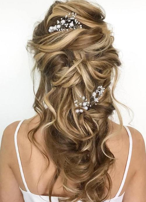 Best Hairstyles For Long Hair Wedding Hair Fashion Style: 40 Gorgeous Wedding Hairstyles For Long Hair