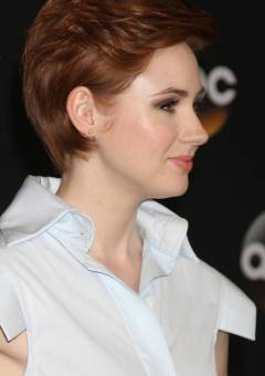 Karen Gillan short red hairstyle
