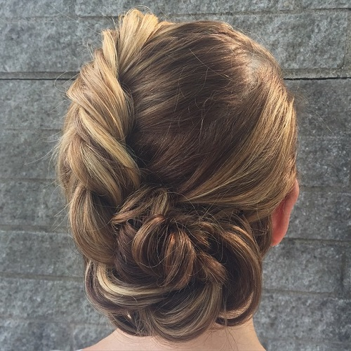Asymmetrical French Twist Updo