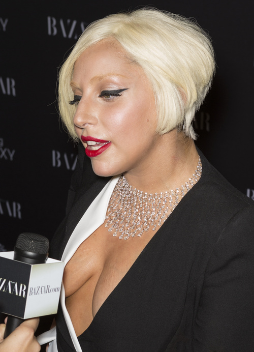 Lady Gaga stacked bob hairstyle