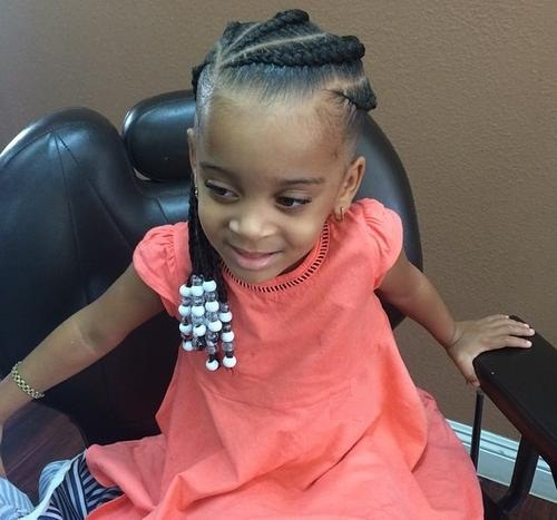little girls black braided hairstyle