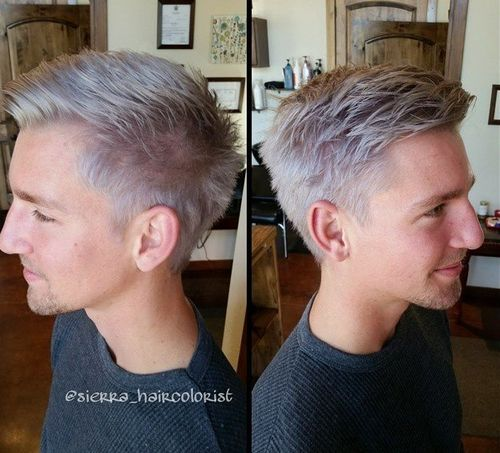 gray hairstyle for guys