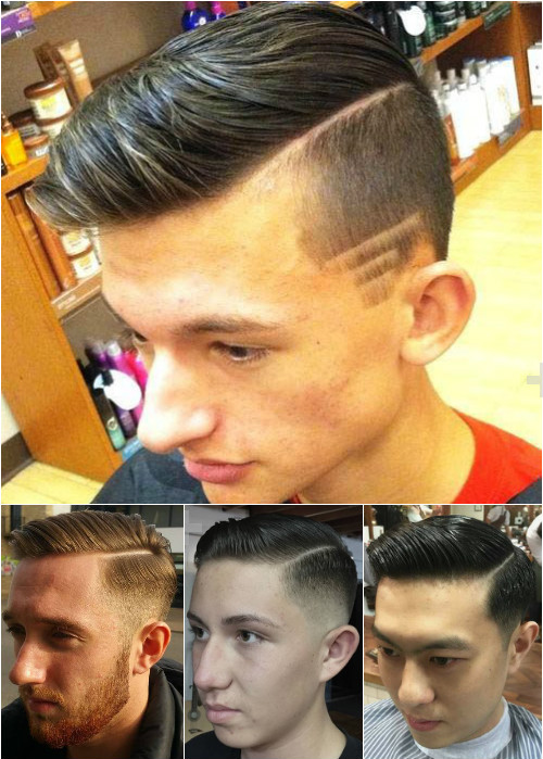 long top short sides side parted hairstyles for men