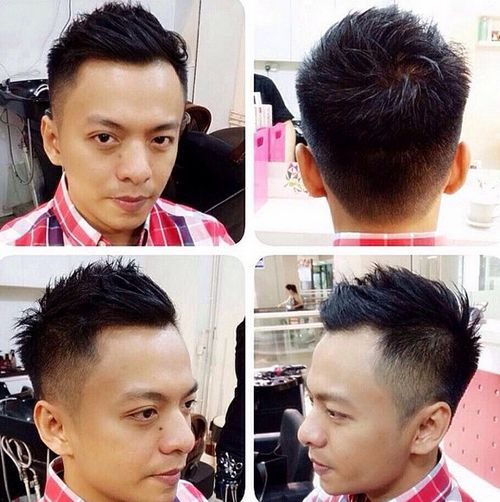 short spiky haircut for men