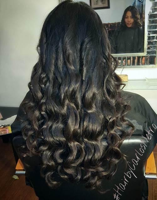 Black Hair With Dark Brown Highlights