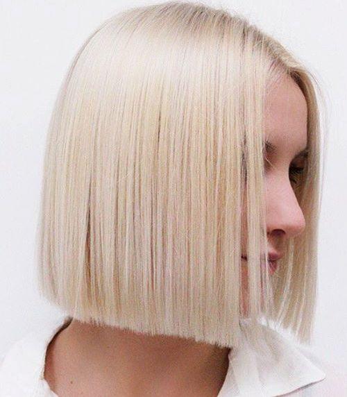 blunt blonde bob