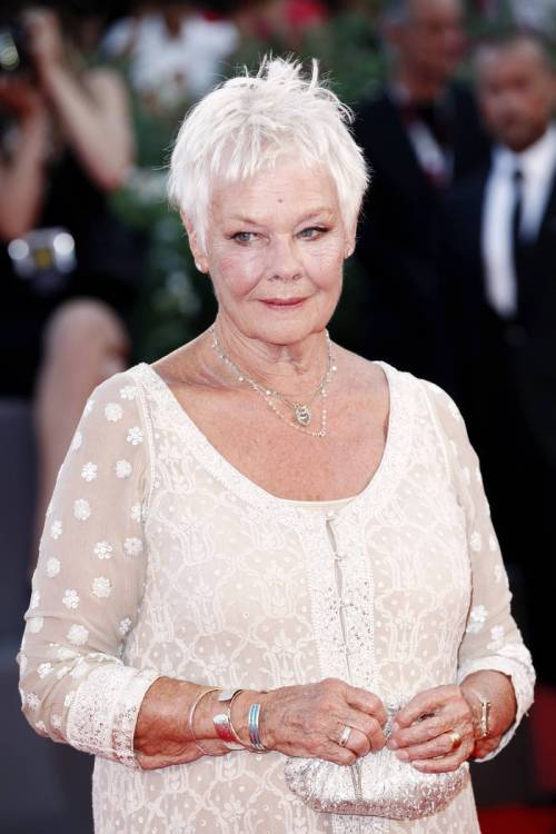 Judi Dench short haircut for older women