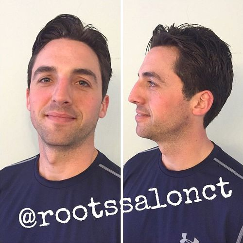 simple short man's haircut