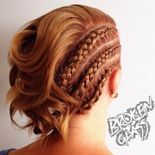 Short Asymmetrical Braided Hairstyle