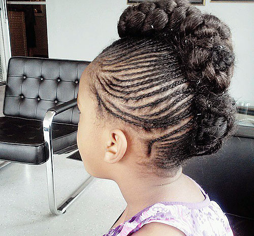 braided Mohawk for black girls
