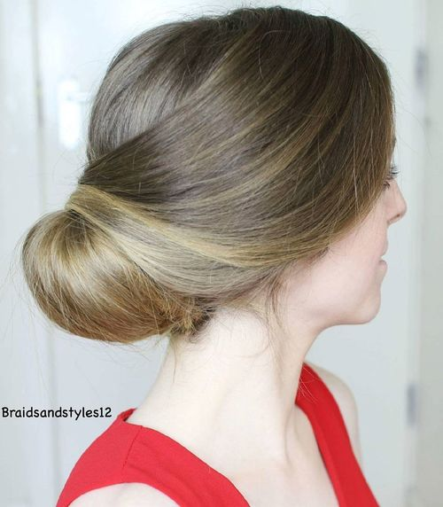 low wedding updo for long hair